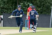 Cricket Scotland - Scotland V Namibia One Day International match at Grange CC today (Thur) - this match is the first of two ODI matches this week against Zimbabwe - Scotland's Michael Leask and Craig Wallace made good runs in a pertnership of 83 off 8.4 overs - picture by Donald MacLeod - 15.06.2017 - 07702 319 738 - clanmacleod@btinternet.com - www.donald-macleod.com