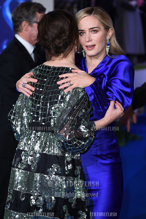 LONDON, UK. December 12, 2018: Emily Mortimer &amp; Emily Blunt at the UK premiere of &quot;Mary Poppins Returns&quot; at the Royal Albert Hall, London.<br /> Picture: Steve Vas/Featureflash