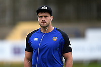 Michael van Vuuren of Bath Rugby looks on during the pre-match warm-up. Pre-season friendly match, between Edinburgh Rugby and Bath Rugby on August 17, 2018 at Meggetland Sports Complex in Edinburgh, Scotland. Photo by: Patrick Khachfe / Onside Images