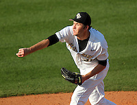 UCF Knights pitcher Ray Hanson #36 delivers a pitch during a game against the Siena Saints at the UCF Baseball Complex on March 3, 2012 in Orlando, Florida.  UCF defeated Siena 6-4.  (Mike Janes/Four Seam Images)