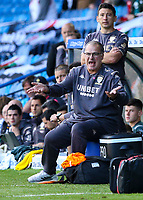 Leeds United manager Marcelo Bielsa gestures<br /> <br /> Photographer Alex Dodd/CameraSport<br /> <br /> The EFL Sky Bet Championship - Leeds United v Swansea City - Saturday 31st August 2019 - Elland Road - Leeds<br /> <br /> World Copyright © 2019 CameraSport. All rights reserved. 43 Linden Ave. Countesthorpe. Leicester. England. LE8 5PG - Tel: +44 (0) 116 277 4147 - admin@camerasport.com - www.camerasport.com