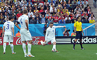 Sao Paulo, Brazil - June 19, 2014: Uruguay defeated England 2-1 in Group D match play during the 2014 FIFA World Cup in Arena de Sao Paulo.