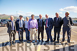 Minister Shane Ross met with stake holders of the Valentia Island Ferry on Thursday last pictured l-r; Muiris O'Donoghue, Michael Heal Rae TD, Cllr Norma Moriarty, Paudie Lynch, Minister Shane Ross, John Brassil TD, Richard Foran & Seanie Murphy.
