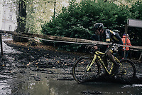 Tom Pidcock (GBR/U23/Telenet Fidea Lions) leading the way through the mud<br /> <br /> U23 Men's race<br /> Superprestige Gavere / Belgium 2017