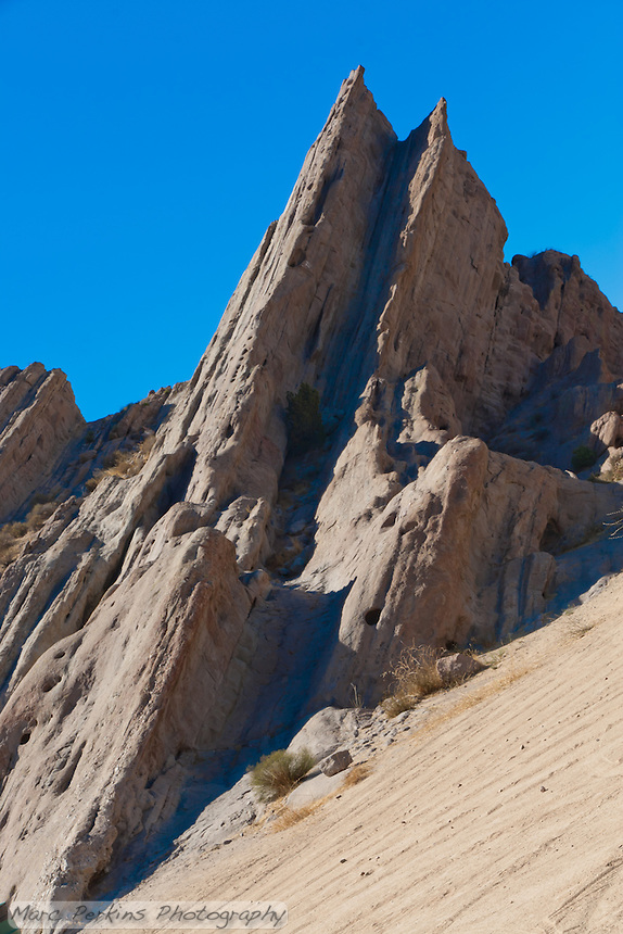Vasquez Rocks, in Los Angeles County, have been featured in many TV shows and films, including Star Trek.  Since it's been used in so many sci-fi shows, it just felt right to do an angled shot of it.  It almost makes it look like a crashed spaceship.
