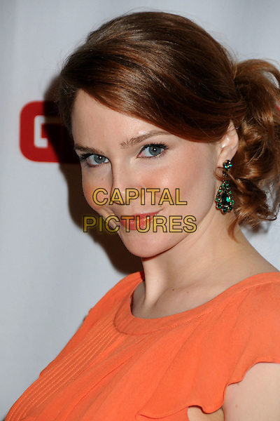 SHANNON LUCIO .Generosity Water's 2nd Annual Night of Generosity held at the Mondrian Hotel's Skybar, West Hollywood, California , USA, 22nd March 2010..portrait headshot orange green dangly earrings .CAP/ADM/BP.©Byron Purvis/AdMedia/Capital Pictures.