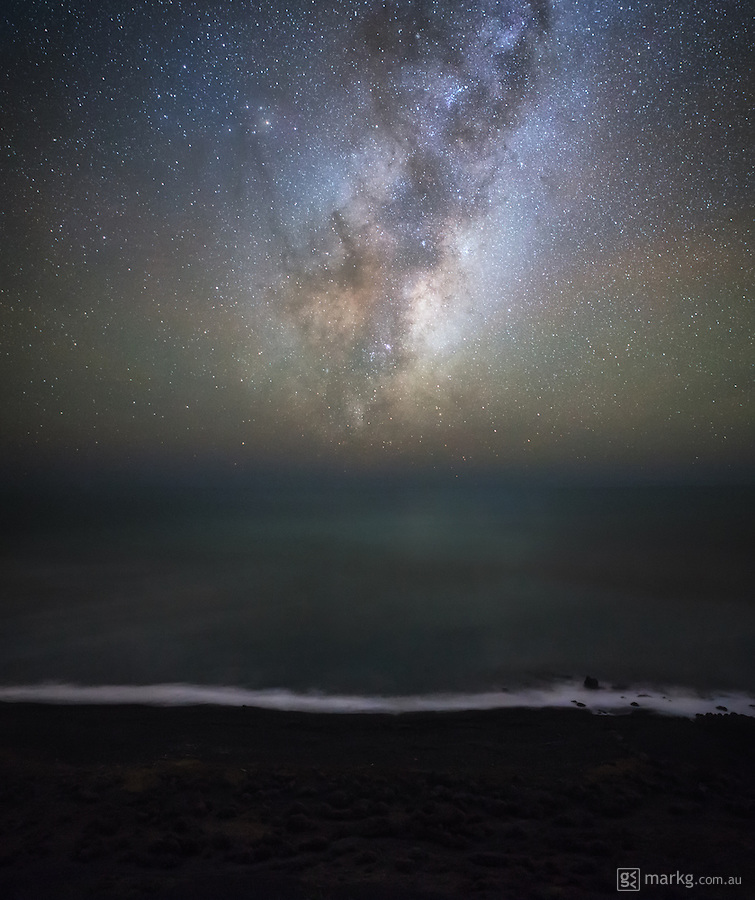 The Galactic Core of the Milky Way makes a return to our night skies for 2015 as it rises over the horizon just before dawn near Wellington, New Zealand.