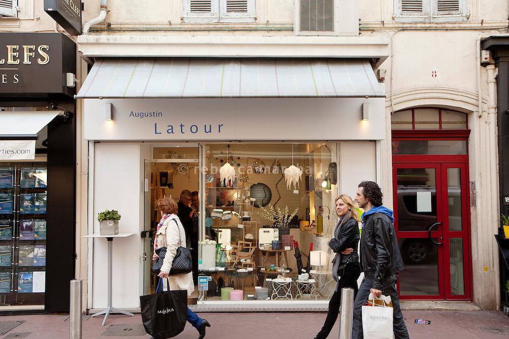 Augustin Latour boutique, Cannes, France, 5 April 2013