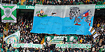 Celtic fans banner before the game