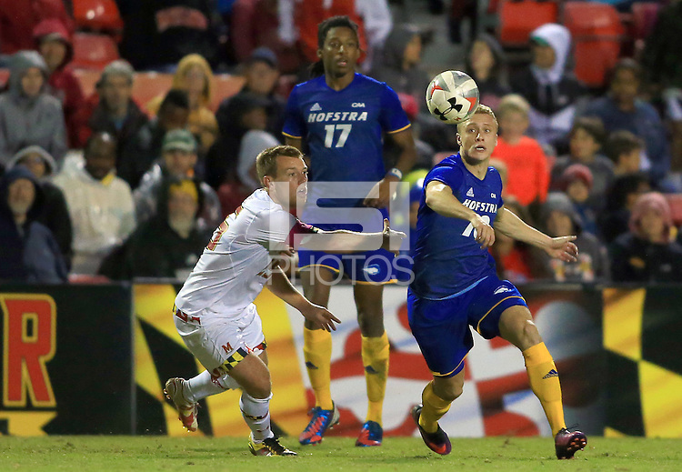 College Park, MD. - Friday, October 21, 2016: The University of Maryland defeated Hofstra University 2-1 at Ludwig Field.