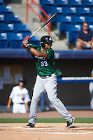 Daytona Tortugas left fielder Yorman Rodriguez (33) at bat during a game against the Brevard County Manatees on August 14, 2016 at Space Coast Stadium in Viera, Florida.  Daytona defeated Brevard County 9-3.  (Mike Janes/Four Seam Images)