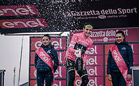 Simon Yates (GBR/Mitchelton-Scott) even stronger in pink after the finish up the infamous Monte Zoncolan<br /> <br /> stage 14 San Vito al Tagliamento &ndash; Monte Zoncolan (186 km)<br /> 101th Giro d'Italia 2018