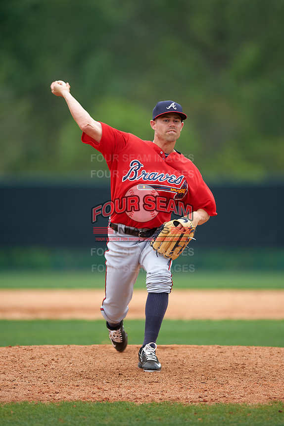 Atlanta Braves Rob Wooten (61) during an intrasquad Spring Training game on March 29, 2016 at ESPN Wide World of Sports Complex in Orlando, Florida.  (Mike Janes/Four Seam Images)