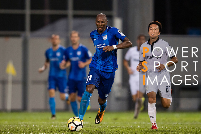 SC Kitchee Forward Alessandro Ferreira (L) in action during the week two Premier League match between Kitchee and Dreams FC at on September 10, 2017 in Hong Kong, China. Photo by Marcio Rodrigo Machado / Power Sport Images