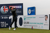 Guido Migliozzi (ITA) on the 10th tee during the Pro-Am of the Betfred British Masters 2019 at Hillside Golf Club, Southport, Lancashire, England. 08/05/19<br /> <br /> Picture: Thos Caffrey / Golffile<br /> <br /> All photos usage must carry mandatory copyright credit (© Golffile | Thos Caffrey)