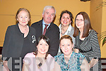 SMILE: Taking a break for a photo at the Gael Scoil Lios Tuathail dance in the Listowel Arms Hotel on Friday night were front l-r: Celia Mahoney and Amy McMahon. Back l-r: Theresa and Sea?n McCarthy, Imelda Dowling Garvey and Angela Kearney.   Copyright Kerry's Eye 2008