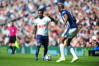 Tottenham Hotspur's Danny Rose vies for possession with West Bromwich Albion's Allan-Romeo Nyom<br /> <br /> Photographer Ashley Crowden/CameraSport<br /> <br /> The Premier League - West Bromwich Albion v Tottenham Hotspur - Saturday 5th May 2018 - The Hawthorns - West Bromwich<br /> <br /> World Copyright &copy; 2018 CameraSport. All rights reserved. 43 Linden Ave. Countesthorpe. Leicester. England. LE8 5PG - Tel: +44 (0) 116 277 4147 - admin@camerasport.com - www.camerasport.com