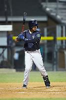 Jesus Bastidas (39) of the Pulaski Yankees at bat against the Burlington Royals at Burlington Athletic Stadium on August 25, 2019 in Burlington, North Carolina. The Yankees defeated the Royals 3-0. (Brian Westerholt/Four Seam Images)