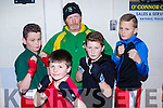 1st round<br /> -------------<br /> Tralee boxing club members taking part in their own tournament last Saturday night at the club in Monavalley, L-R Christopher Mongans, John Murrey, Michael&amp;Willie Burke with Jimmy Donnolly TBC assistant coach.