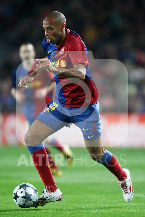 FC Barcelona's Thierry Henry during the UEFA Champiosn League match.April 8 2009. (ALTERPHOTOS/Acero).