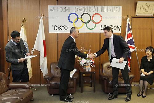 Sebastian Coe LOCOG Chairman, February 29, 2012 - JOC : Sebastian Coe LOCOG Chairman of the London 2012 Olympic Games visited Tokyo international high school in Tokyo, Japan. . (Photo by Yusuke Nakanishi/AFLO SPORT) [1090]