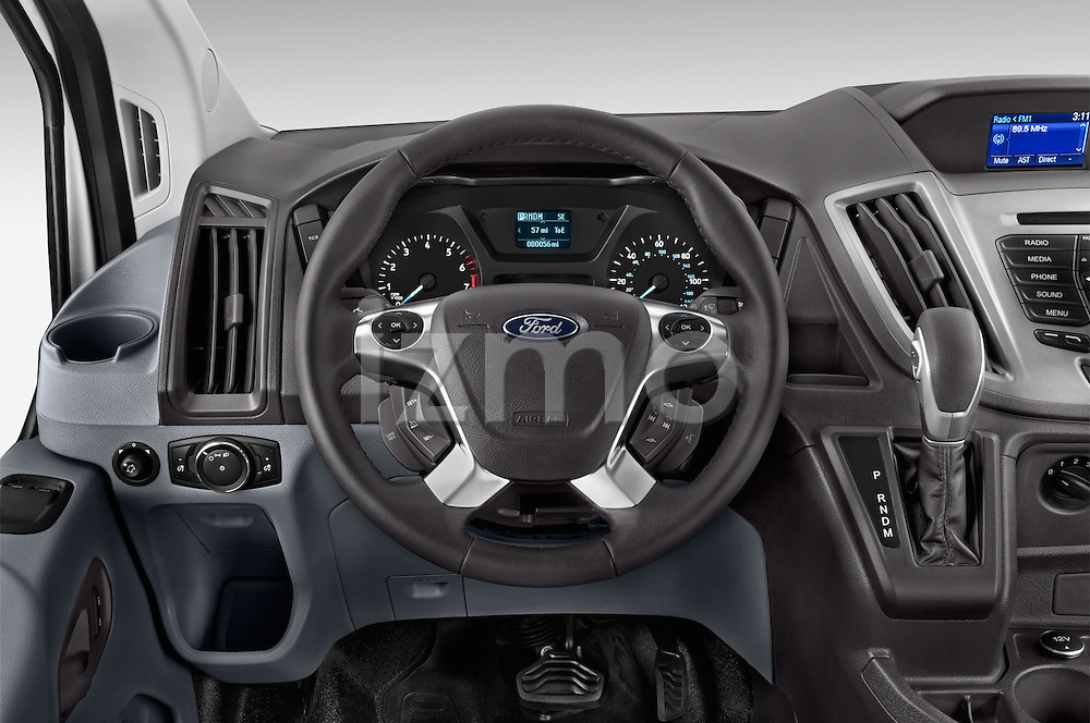 Car pictures of steering wheel view of a 2015 Ford Transit 150 Van 2 Door  Steering Wheel