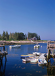 Harbor view at Newagen in Southport, Maine, USA