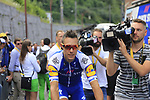 Philippe Gilbert (BEL) Quick-Step Floors at sign on in Verviers before the start of Stage 3 of the 104th edition of the Tour de France 2017, running 212.5km from Verviers, Belgium to Longwy, France. 3rd July 2017.<br /> Picture: Eoin Clarke | Cyclefile<br /> <br /> <br /> All photos usage must carry mandatory copyright credit (&copy; Cyclefile | Eoin Clarke)
