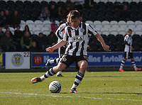 Paul McGowan in the St Mirren v Hibernian Clydesdale Bank Scottish Premier League match played at St Mirren Park, Paisley on 29.4.12.