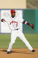 May 9, 2010: Albert Cartwright of the Lancaster JetHawks during game against the Inland Empire 66'ers at Clear Channel Stadium in Lancaster,CA.  Photo by Larry Goren/Four Seam Images