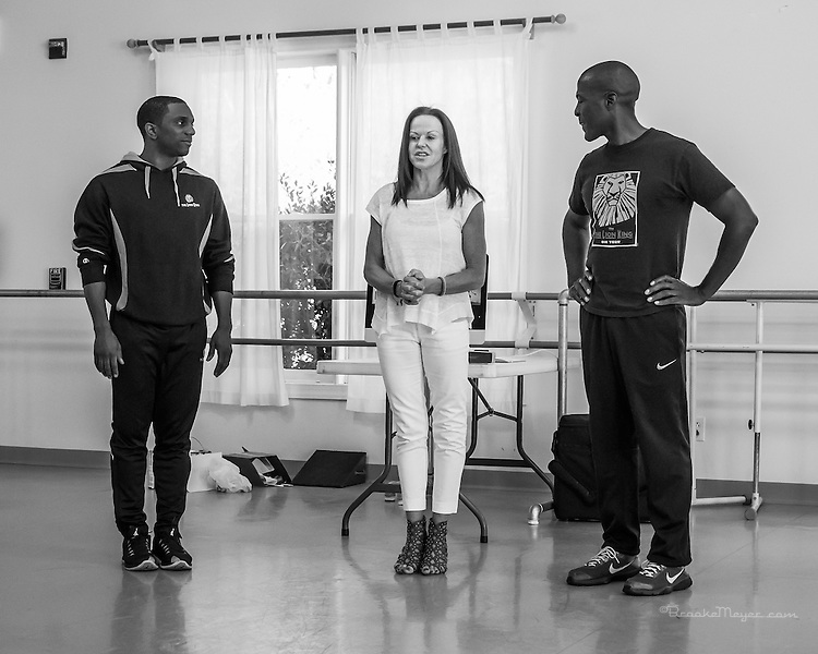 """Project Inspire with cast members of the """"Lion King"""" Russell Brown and Kevin Petite.  Cary Ballet Conservatory 18 March 2016."""