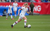 CARSON, CA - FEBRUARY 9: Abby Dahlkemper #7 of the United States moves with the ball during a game between Canada and USWNT at Dignity Health Sports Park on February 9, 2020 in Carson, California.