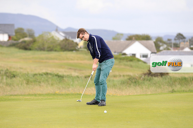 Colm Fitzgerald (Athlone) on the 3rd green during the Athlone V Westport Connacht Senior Cup Final at Co.Sligo Golf Club in Rosses Point on Sunday 28th June 2015.<br /> Picture:  Golffile | Thos Caffrey