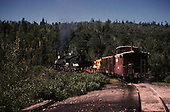 D&amp;RGW #483 with work train leaving Sublette.<br /> D&amp;RGW  Sublette, NM