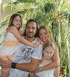 All My Children Thorsten Kaye & One Life To Live Susan Haskell and  daughters Marlowe & McKenna as they donate time and $s at SoapFest's Celebrity Weekend - Art for Autism when the actors & kids make paintings for auction to benefit Autism on November 10, 2012 Marco Island, Florida. For info www.autism-society.org or www.autismspeaks.org. (Photo by Sue Coflin/Max Photos)