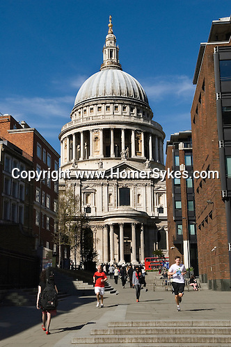 St Pauls Cathedral London UK City office workers