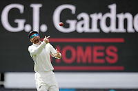 1st December 2019, Hamilton, New Zealand; Tom Blundell throws back to the wicket. International test match cricket, New Zealand versus England at Seddon Park, Hamilton, New Zealand. Sunday 1 December 2019.