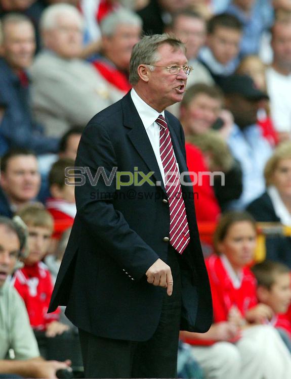 Pix: Rob Matthews/SWpix.com.  Soccer. FA Barclaycard Premiership. Charlton v Manchester United. 28/09/2002...COPYRIGHT PICTURE>>SIMON WILKINSON>>01943 436649>>..Manchester's Sir Alex Ferguson.