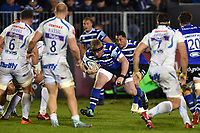Jacques van Rooyen of Bath Rugby takes on the Exeter Chiefs defence. Gallagher Premiership match, between Bath Rugby and Exeter Chiefs on October 5, 2018 at the Recreation Ground in Bath, England. Photo by: Patrick Khachfe / Onside Images