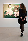 Pictured: &quot;Mangeuse de pasteque et homme ecrivant&quot;, 13 May 1965, by Picasso. Estimated to fetch $7-10 million.<br /> <br /> Christie's London unveils touring highlights from the New York &quot;Impressionist &amp; Modern Art Evening Sale&quot; which are on free public view from 28 March to 1 April, ahead of the auction in New York on 6 May 2014.