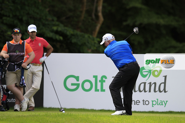 Brendan McGovern (IRL) tees off the 16th tee during Friday's Round 2 of the 2014 Irish Open held at Fota Island Resort, Cork, Ireland. 20th June 2014.<br /> Picture: Eoin Clarke www.golffile.ie