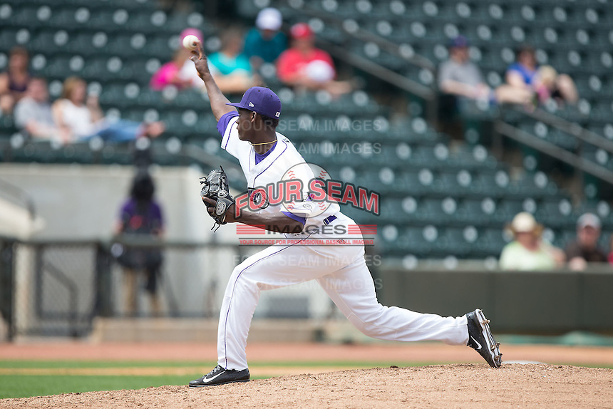 Winston-Salem Dash starting pitcher Robinson Leyer (13) delivers a pitch to the plate against the Myrtle Beach Pelicans at BB&T Ballpark on May 10, 2015 in Winston-Salem, North Carolina.  The Pelicans defeated the Dash 4-3.  (Brian Westerholt/Four Seam Images)