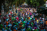 RIO DE JANEIRO, BRAZIL - FEBRUARY 23, 2014: Outpatients of the Instituto Philippe Pinel psychiatric hospital, their family and friends participate during the annual T&aacute; Pirando, Pirado, Pirou! carnival street parade on February 23, 2014 in Rio De Janeiro, Brazil. It looks like any of the other 450 or so street parties, locally called &ldquo;carnival blocks,&rdquo; that parade through Rio de Janeiro during the raucous pre-Lenten festivities that draw hundreds of thousands to the city each year. What makes this party different are its performers and organizers: psychiatric patients and their doctors, therapists, family members, neighbors and passers-by. The group, called T&aacute; Pirando, Pirado, Pirou!, which roughly translates as &ldquo;We&rsquo;re freaking out, we already freaked out!&rdquo;, began ten years ago when Brazil was in the process of dismantling its century-old system of mental asylums. A law passed in 2001 called for long-term outpatient psychiatric care to be offered primarily in community clinics. The number of such clinics increased more than fivefold in the following decade, while the number of asylum beds for psychiatric patients dropped 40 percent nationwide.<br /> <br /> Daniel Berehulak for The New York Times