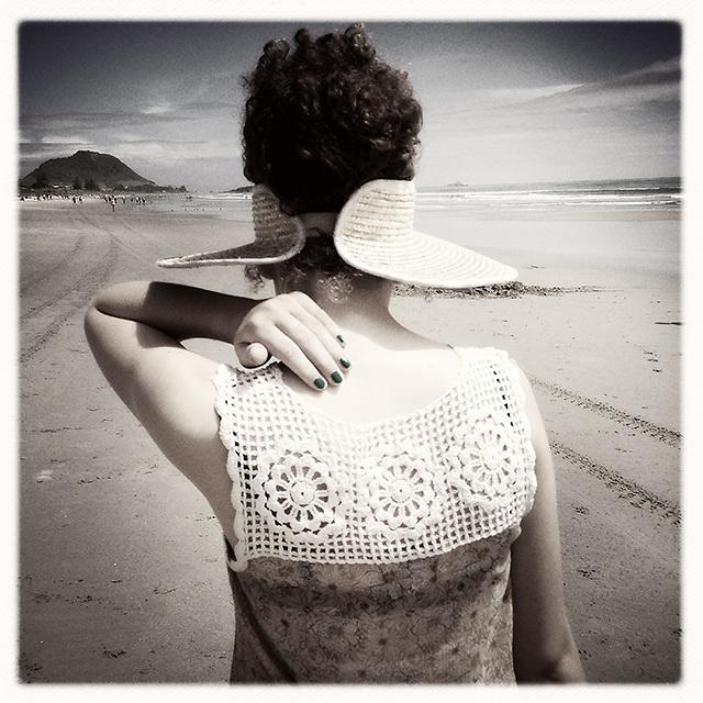 Millie at Mount Maunganui Beach, Tauranga
