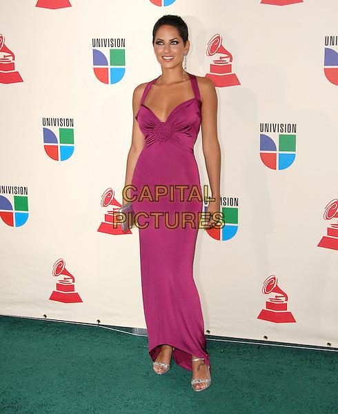 BARBARA MORI.The 8th Annual Latin Grammys held at The Mandalay Bay Hotel & Casino in Las Vegas, California, USA..November 8th, 2007.full length pink dress .CAP/DVS.©Debbie VanStory/Capital Pictures