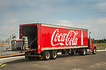 Hammonasset State Beach Park, Madison, CT. CocaCola truck delivery.