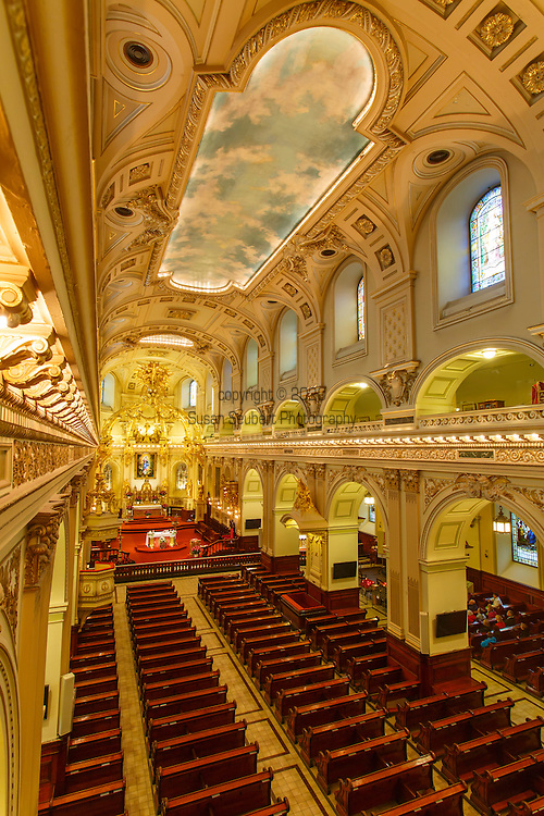 The Cathedral-Basilica of Notre-Dame de Québec (Our Lady of Quebec City), located at 20, rue de Buade, Quebec City, Quebec, is the seat of the Roman Catholic Archdiocese of Quebec, the oldest seat in the Americas north of Mexico. It is also the parish church of the oldest North American parish north of Mexico and was the first north of Mexico to be elevated to the rank of minor basilica, by Pope Pius IX in 1874. It is a National Historic Site of Canada, and located within the UNESCO World Heritage Site of Historic District of Old Québec, Quebec City, Quebec, Canada