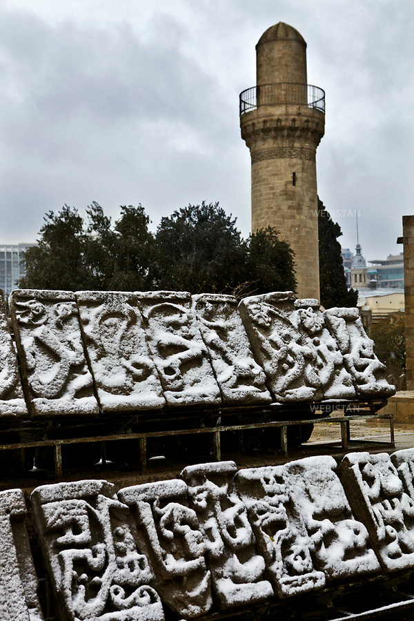 Azerbaijan, Baku, Old City, Shirvanshah Palace, November 24, 2011<br />