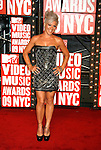 New York, New York  - September 13: Pink  arrives at the 2009 MTV Video Music Awards at Radio City Music Hall on September 13, 2009 in New York, New York.