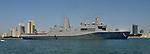 USS SOMERSET (LPD-25) in San Diego Bay inbound to the Naval Base.